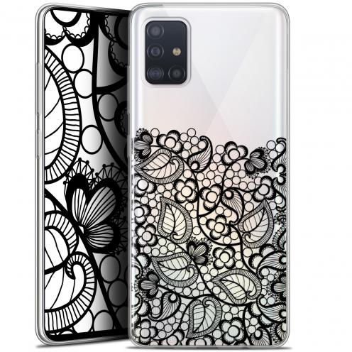 """Carcasa Gel Extra Fina Samsung Galaxy A51 (A515) (6.5"""") Spring Bas dentelle Noir"""