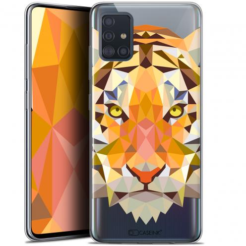 "Carcasa Gel Extra Fina Samsung Galaxy A51 (A515) (6.5"") Polygon Animals Tigre"