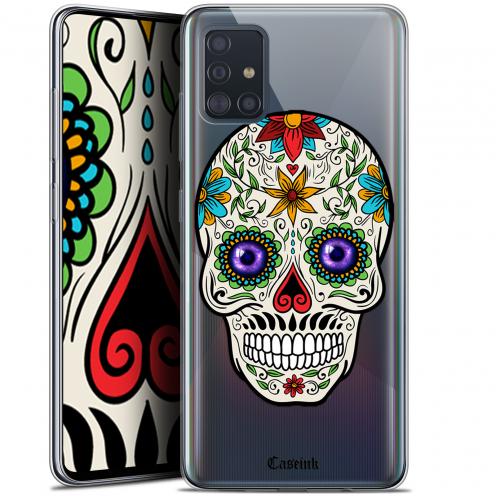 "Carcasa Gel Extra Fina Samsung Galaxy A51 (A515) (6.5"") Skull Maria's Flower"