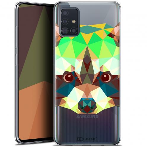 """Carcasa Gel Extra Fina Samsung Galaxy A51 (A515) (6.5"""") Polygon Animals Raton Laveur"""