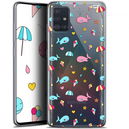 "Carcasa Gel Extra Fina Samsung Galaxy A51 (A515) (6.5"") Design Baleine à la Plage"