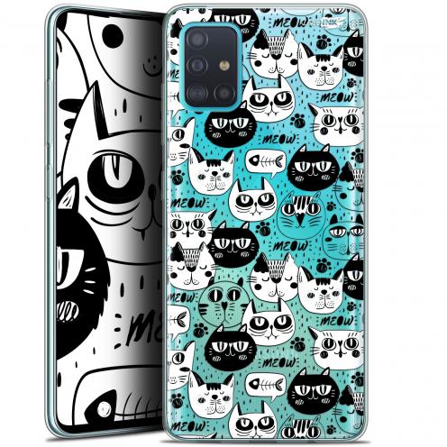 "Carcasa Gel Extra Fina Samsung Galaxy A51 (A515) (6.5"") Design Chat Noir Chat Blanc"