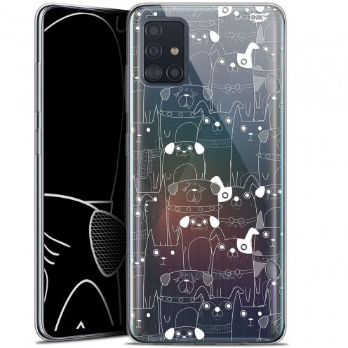 """Carcasa Gel Extra Fina Samsung Galaxy A51 (A515) (6.5"""") Design Chien Blanc"""