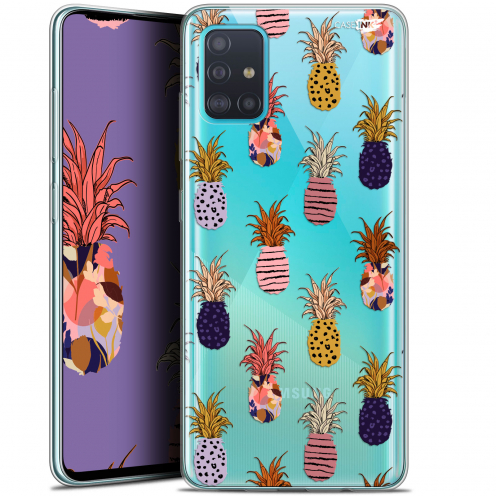 "Carcasa Gel Extra Fina Samsung Galaxy A51 (A515) (6.5"") Design Ananas Gold"