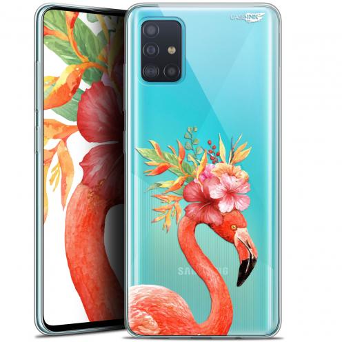"Carcasa Gel Extra Fina Samsung Galaxy A51 (A515) (6.5"") Design Flamant Rose Fleuri"