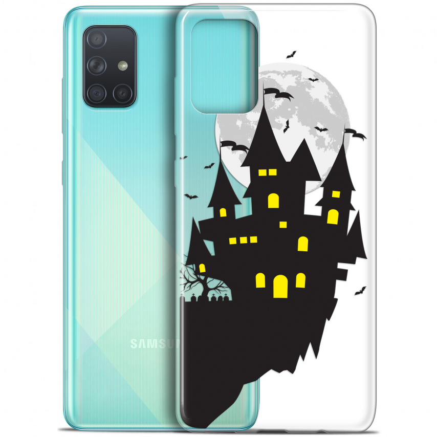 "Carcasa Gel Extra Fina Samsung Galaxy A71 (A715) (6.7"") Halloween Castle Dream"