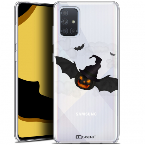 "Carcasa Gel Extra Fina Samsung Galaxy A71 (A715) (6.7"") Halloween Chauve Citrouille"
