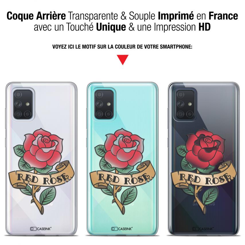 "Carcasa Gel Extra Fina Samsung Galaxy A71 (A715) (6.7"") Tatoo Lover Red Rose"