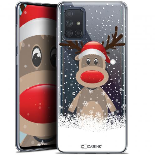 """Carcasa Gel Extra Fina Samsung Galaxy A71 (A715) (6.7"""") Noël 2017 Cerf au Bonnet"""