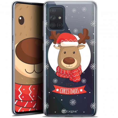"Carcasa Gel Extra Fina Samsung Galaxy A71 (A715) (6.7"") Noël 2017 Cerf à Echarpe"