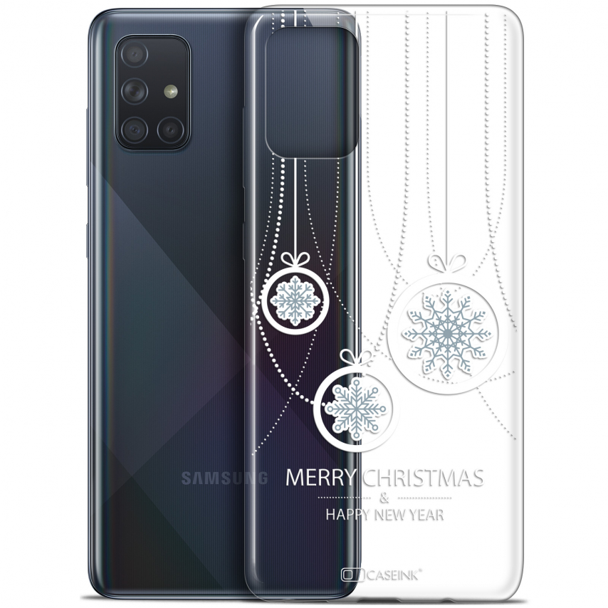 "Carcasa Gel Extra Fina Samsung Galaxy A71 (A715) (6.7"") Noël 2017 Christmas Balls"
