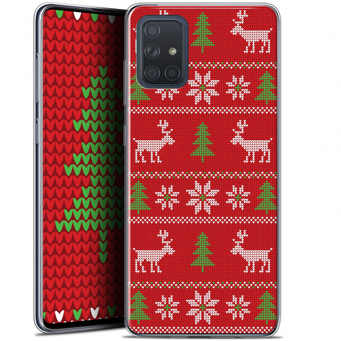 "Carcasa Gel Extra Fina Samsung Galaxy A71 (A715) (6.7"") Noël 2017 Couture Rouge"