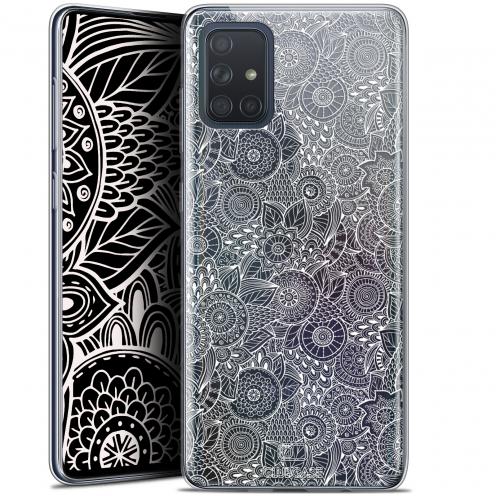 "Carcasa Gel Extra Fina Samsung Galaxy A71 (A715) (6.7"") Dentelle Florale Blanc"