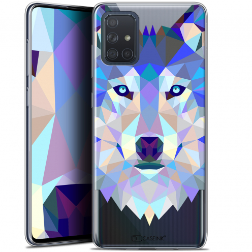 "Carcasa Gel Extra Fina Samsung Galaxy A71 (A715) (6.7"") Polygon Animals Lobo"