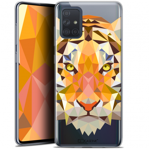 "Carcasa Gel Extra Fina Samsung Galaxy A71 (A715) (6.7"") Polygon Animals Tigre"