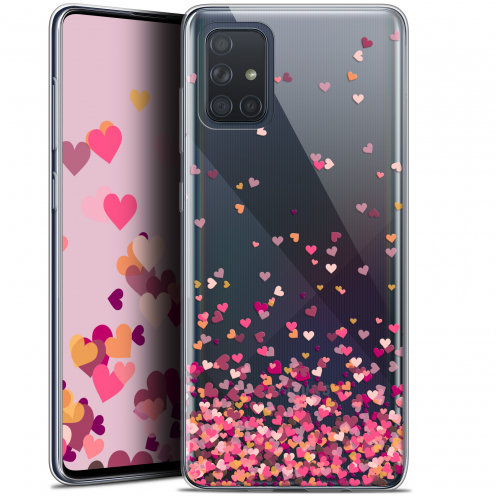 "Carcasa Gel Extra Fina Samsung Galaxy A71 (A715) (6.7"") Sweetie Heart Flakes"