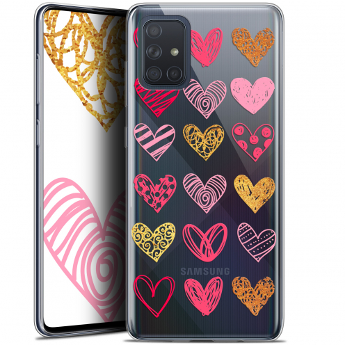 "Carcasa Gel Extra Fina Samsung Galaxy A71 (A715) (6.7"") Sweetie Doodling Hearts"