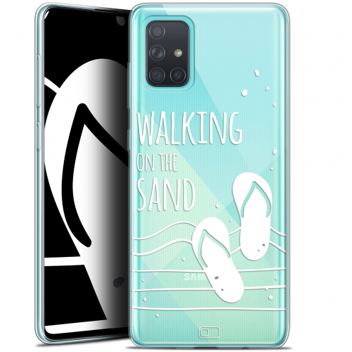 "Carcasa Gel Extra Fina Samsung Galaxy A71 (A715) (6.7"") Summer Walking on the Sand"