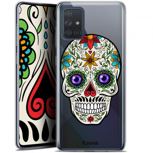 "Carcasa Gel Extra Fina Samsung Galaxy A71 (A715) (6.7"") Skull Maria's Flower"