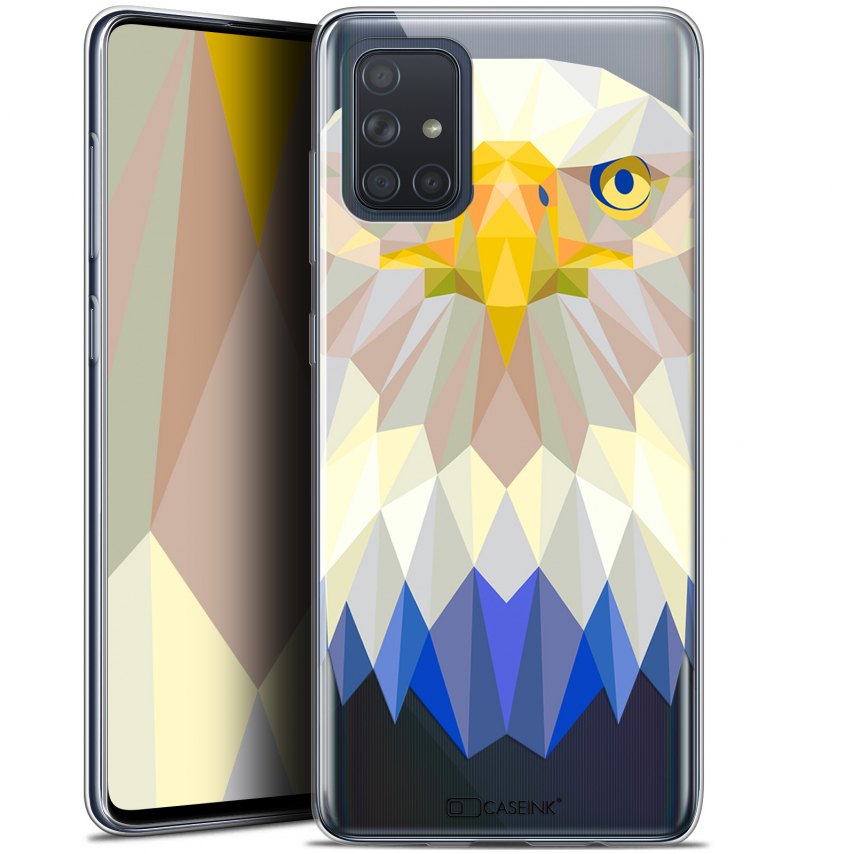"Carcasa Gel Extra Fina Samsung Galaxy A71 (A715) (6.7"") Polygon Animals Águila"