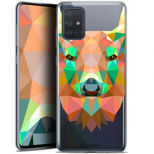 "Carcasa Gel Extra Fina Samsung Galaxy A71 (A715) (6.7"") Polygon Animals Ciervo"