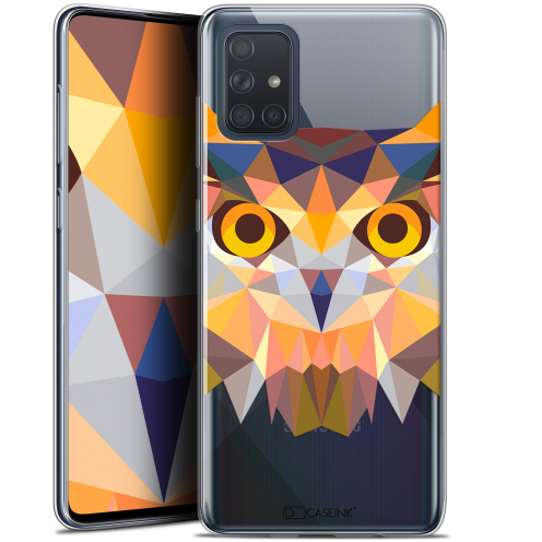 "Carcasa Gel Extra Fina Samsung Galaxy A71 (A715) (6.7"") Polygon Animals Búho"