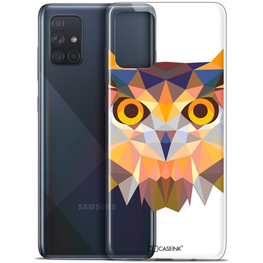 "Carcasa Gel Extra Fina Samsung Galaxy A71 (A715) (6.7"") Polygon Animals Búho"