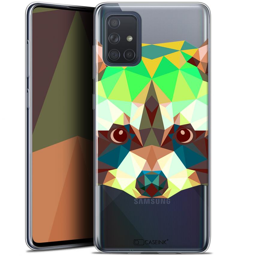 """Carcasa Gel Extra Fina Samsung Galaxy A71 (A715) (6.7"""") Polygon Animals Raton Laveur"""