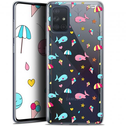 "Carcasa Gel Extra Fina Samsung Galaxy A71 (A715) (6.7"") Design Baleine à la Plage"