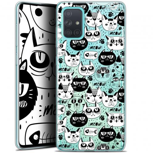 "Carcasa Gel Extra Fina Samsung Galaxy A71 (A715) (6.7"") Design Chat Noir Chat Blanc"