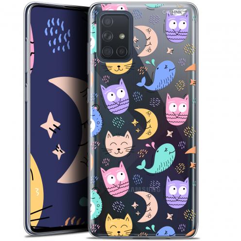 "Carcasa Gel Extra Fina Samsung Galaxy A71 (A715) (6.7"") Design Chat Hibou"