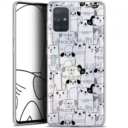 "Carcasa Gel Extra Fina Samsung Galaxy A71 (A715) (6.7"") Design Chien Noir"