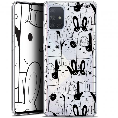 """Carcasa Gel Extra Fina Samsung Galaxy A71 (A715) (6.7"""") Design Lapin Noir"""
