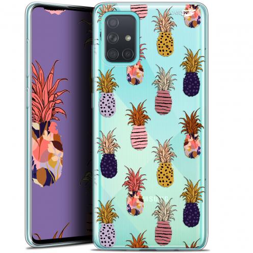 "Carcasa Gel Extra Fina Samsung Galaxy A71 (A715) (6.7"") Design Ananas Gold"