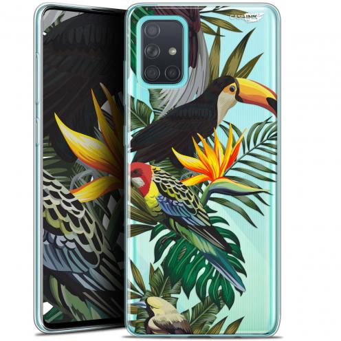 """Carcasa Gel Extra Fina Samsung Galaxy A71 (A715) (6.7"""") Design Toucan Tropical"""