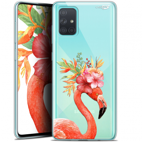 "Carcasa Gel Extra Fina Samsung Galaxy A71 (A715) (6.7"") Design Flamant Rose Fleuri"