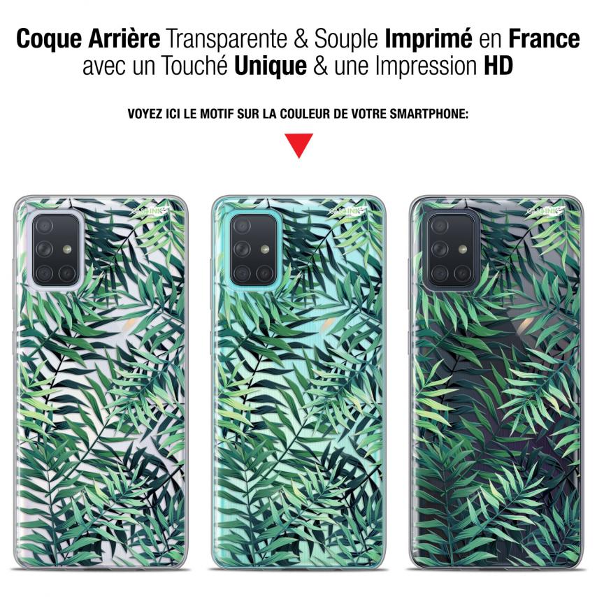 """Carcasa Gel Extra Fina Samsung Galaxy A71 (A715) (6.7"""") Design Feuilles des Tropiques"""