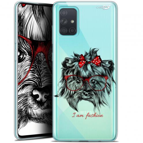 """Carcasa Gel Extra Fina Samsung Galaxy A71 (A715) (6.7"""") Design Fashion Dog"""