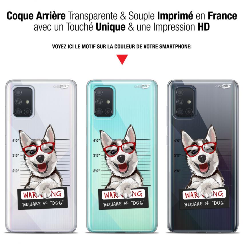 "Carcasa Gel Extra Fina Samsung Galaxy A71 (A715) (6.7"") Design Beware The Husky Dog"