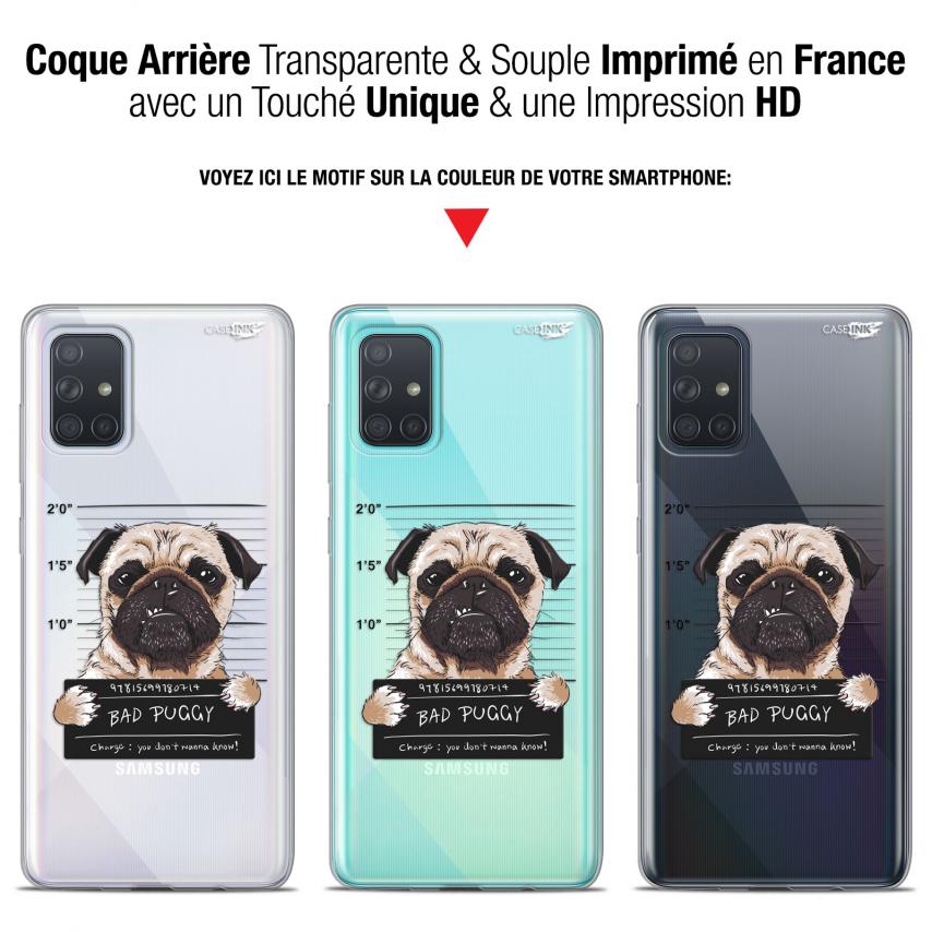 "Carcasa Gel Extra Fina Samsung Galaxy A71 (A715) (6.7"") Design Beware The Puggy Dog"