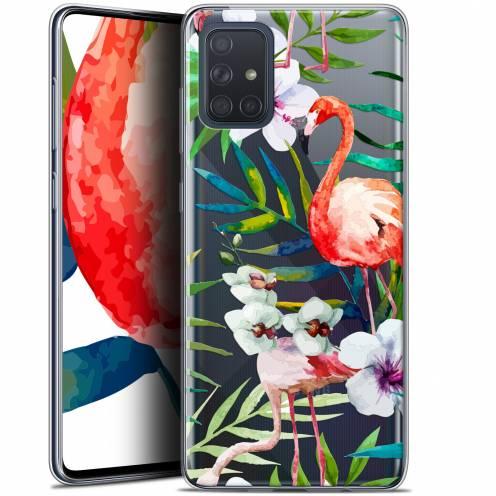 """Carcasa Gel Extra Fina Samsung Galaxy A71 (A715) (6.7"""") Watercolor Tropical Flamingo"""