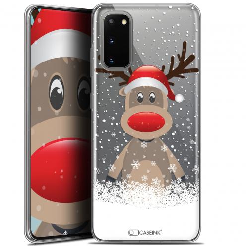 """Carcasa Gel Extra Fina Samsung Galaxy S20 (6.2"""") Noël 2017 Cerf au Bonnet"""