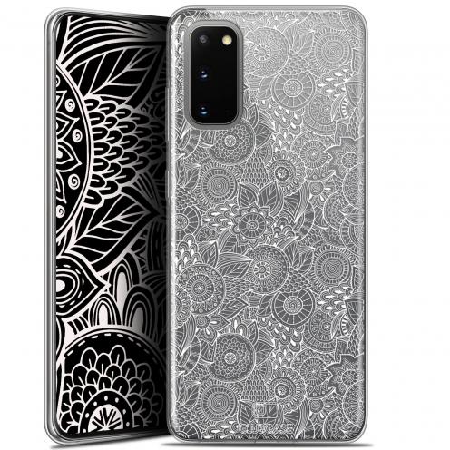 "Carcasa Gel Extra Fina Samsung Galaxy S20 (6.2"") Dentelle Florale Blanc"