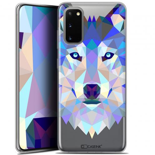 "Carcasa Gel Extra Fina Samsung Galaxy S20 (6.2"") Polygon Animals Lobo"
