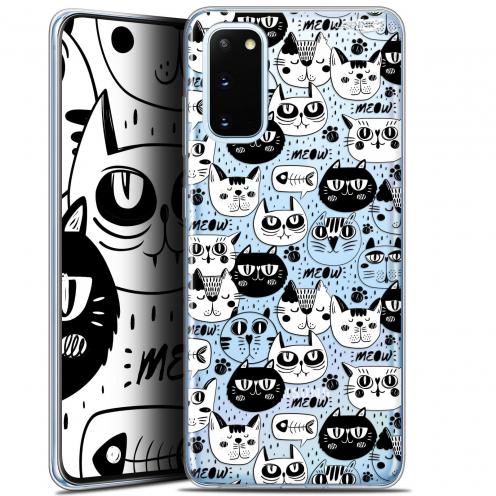 "Carcasa Gel Extra Fina Samsung Galaxy S20 (6.2"") Design Chat Noir Chat Blanc"