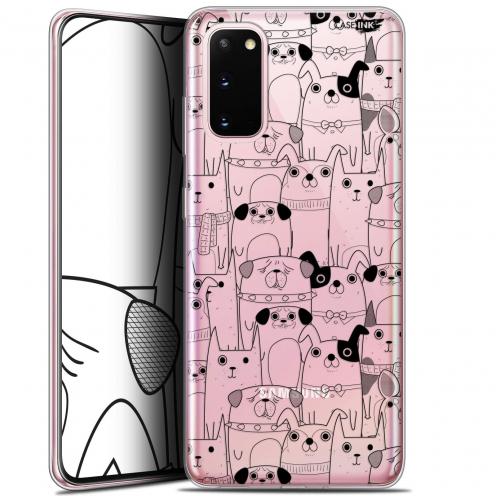 "Carcasa Gel Extra Fina Samsung Galaxy S20 (6.2"") Design Chien Noir"