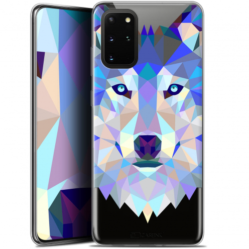 "Carcasa Gel Extra Fina Samsung S20+ (6.7"") Polygon Animals Lobo"