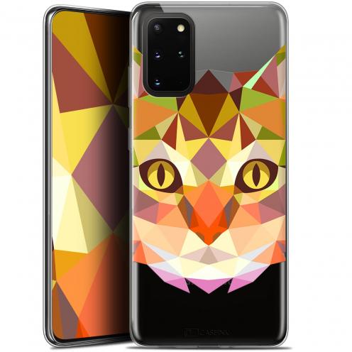 "Carcasa Gel Extra Fina Samsung S20+ (6.7"") Polygon Animals Gato"