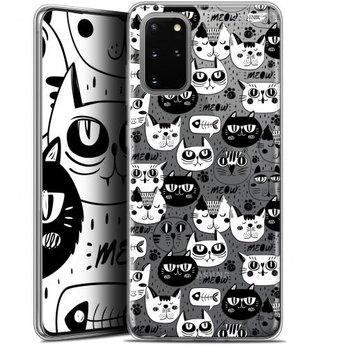 "Carcasa Gel Extra Fina Samsung S20+ (6.7"") Design Chat Noir Chat Blanc"