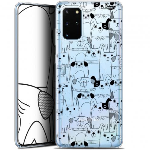 "Carcasa Gel Extra Fina Samsung S20+ (6.7"") Design Chien Noir"